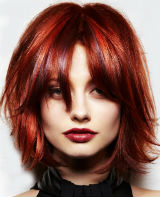 Red Streaked Hairstyles