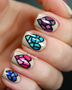 Heart Patches Nail Art